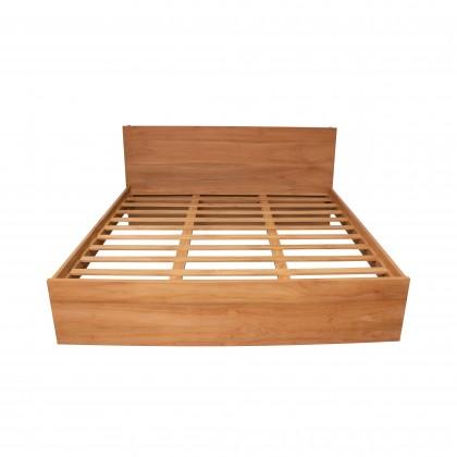 AZIEL Solid Teak Wood King Bed Frame
