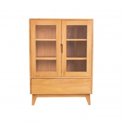 AZIEL Solid Teak Wood Cabinet