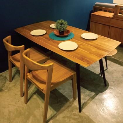 AZIEL Solid Teak Dining Set