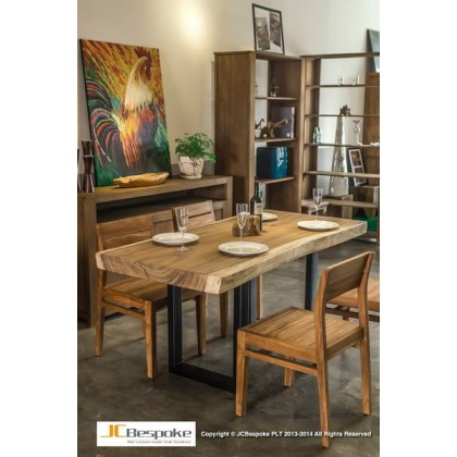 Solid Suar Wood Dining Table + Chairs
