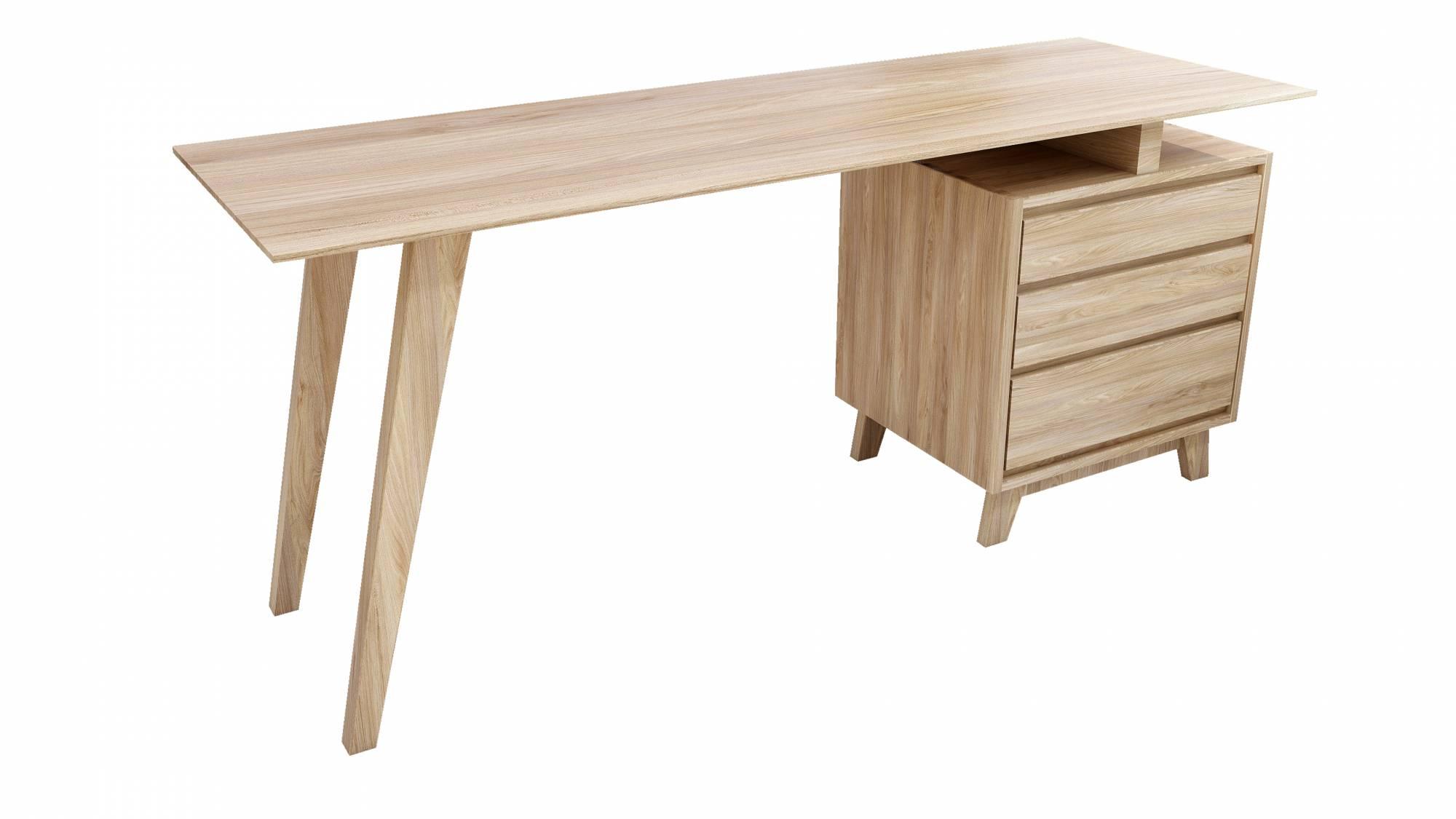 Ai Var Solid Wood Study Desk