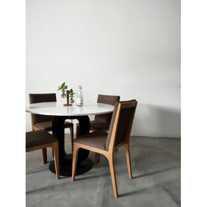 Alice Dining Marble Top Table Set with Chairs